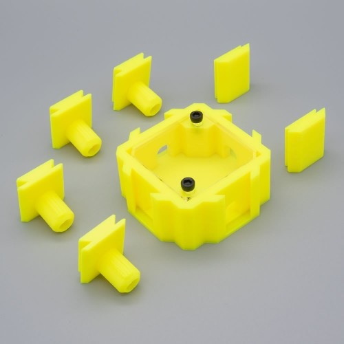 4 Way Connector - Yellow